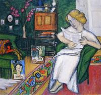 Nella stanza (Donna in abito bianco)