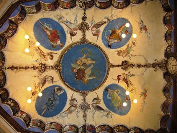 affresco nel Teatro della Concordia, Monte Castello di Vibio (PG)