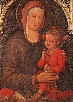 Madonna col Bambino benedicente e cherubini