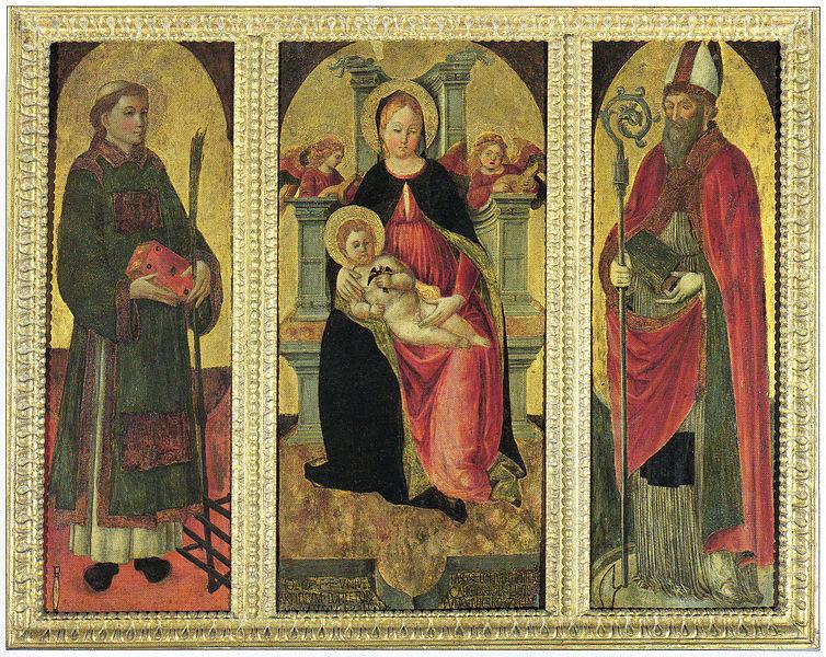 Madonna col Bambino tra i santi Lorenzo e Agostino