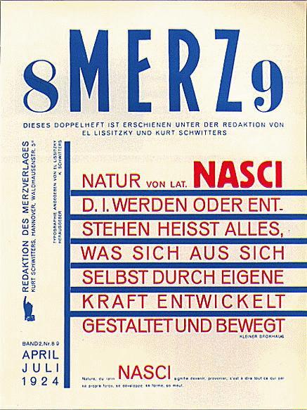 Copertina della rivista Merz (1924)