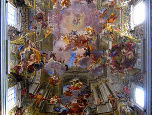 Andrea Pozzo: Chiesa di S.Ignazio a Roma: Apoteosi di Ignazio