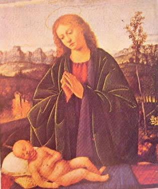 Madonna che adora il bambino: Marco Basaiti, Washington National gallery of Art.