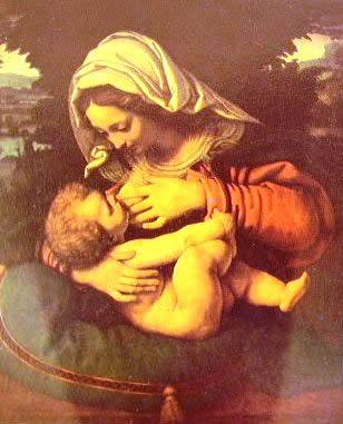Madonna del cuscino verde:: Andrea Solario 1507, Louvre Parigi