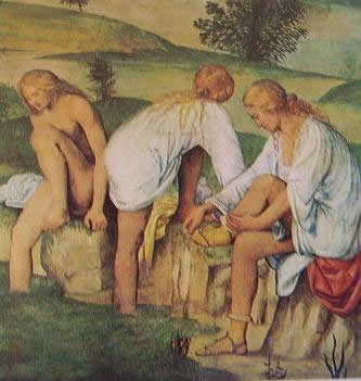 Fanciulle al bagno 1520:Bernardino Luini, Pinacoteca di Brera Milano