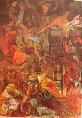 Deposizione dalla croce 1541: Daniele da Volterra. Trinità dei Monti Roma