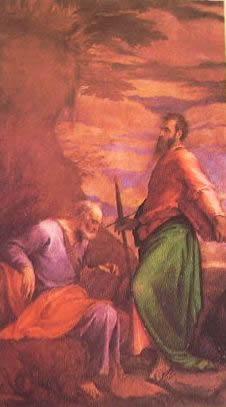 I santi Pietro e Paolo 1566: Jacopo Bassano Galleria Estense di Modena