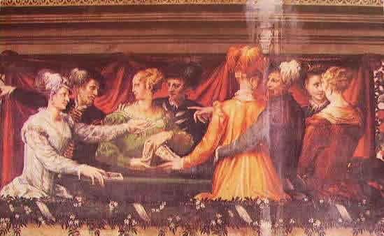La partita dei tarocchi 1550-52, Niccolò dell?abate, biblioteca universitaria Palazzo Poggi Bologna.