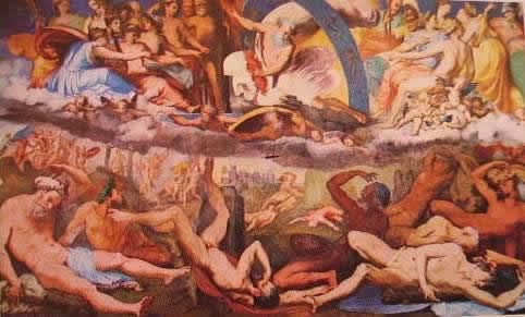 La caduta dei giganti 1530: Pierino del Vaga. Genova palazzo Doria