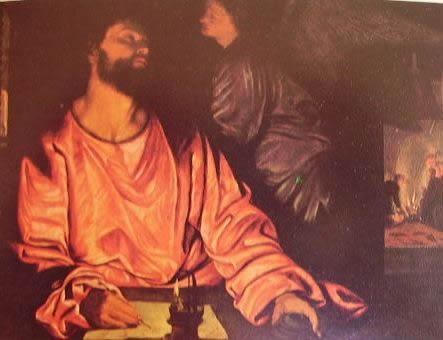S. Matteo e l'Angelo 1530: Savoldo, New York. Metropolitan Museum of Art.