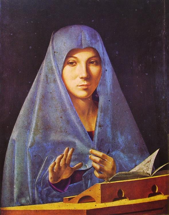 Antonello da Messina: Vergine annunziata di Palermo.