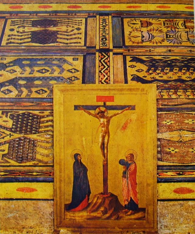 Tavola principale, particolare del crocifisso