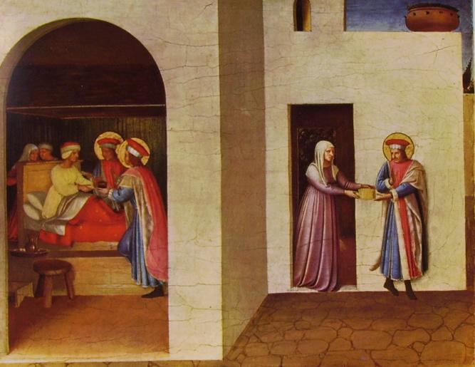 Pala di San Marco - Predella: primo scomparto - Guarigione di Palladia