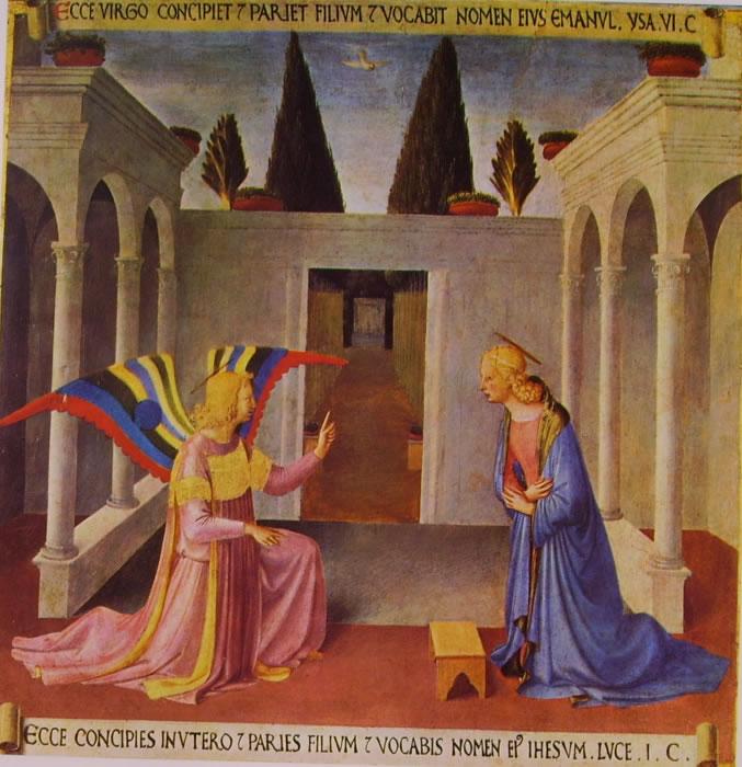 Beato Angelico: Armadio degli agenti - l'Annunciazione