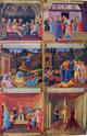 Anta dipinta, cm 118 x 75 con le raffigurazioni