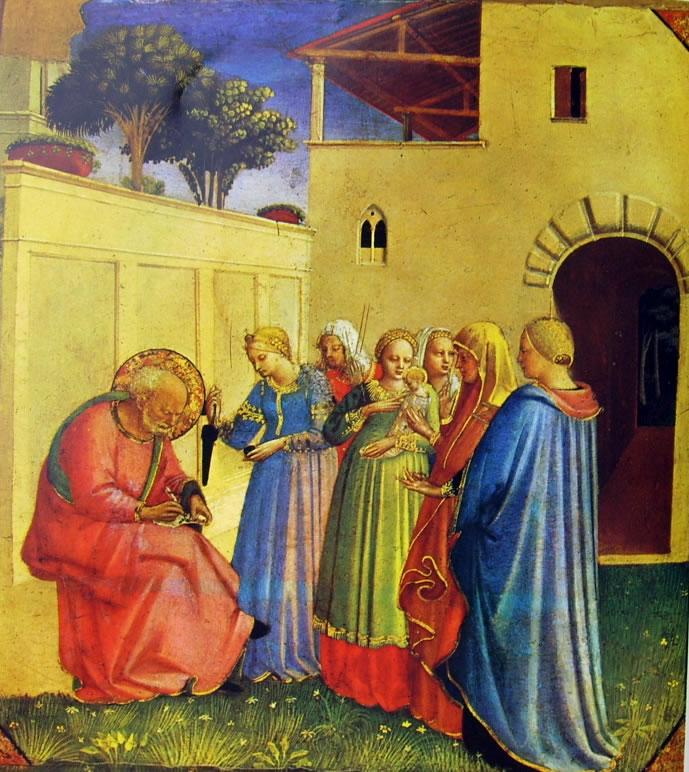 Beato Angelico: Imposizione del nome al Battista