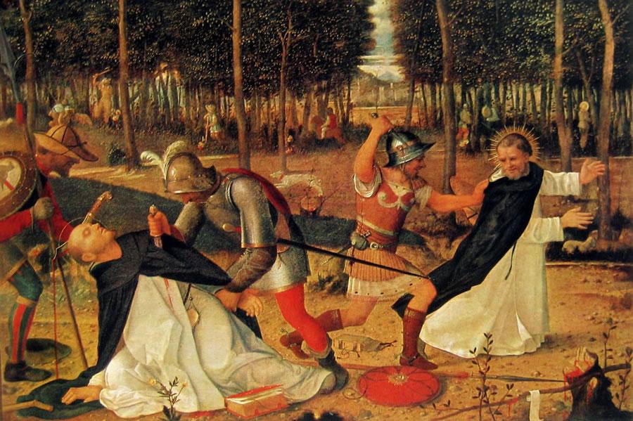 Giovanni Bellini: L'uccisione di San Pietro martire
