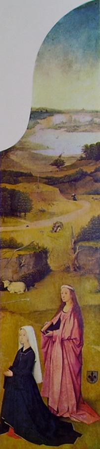Hieronymus Bosch: Trittico dell'Epifania - Sant'Agnese e la donatrice