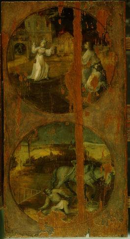Hieronymus Bosch: Trittico del diluvio - Il diavolo in casa e in campagna