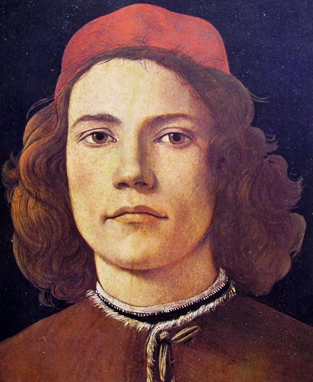Il Botticelli: Ritratto di giovane