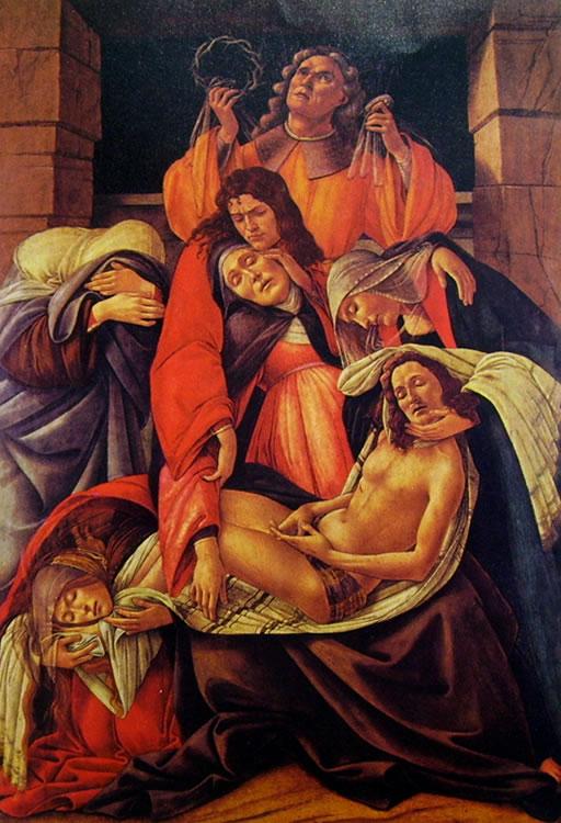 Il Botticelli: Compianto su Cristo morto