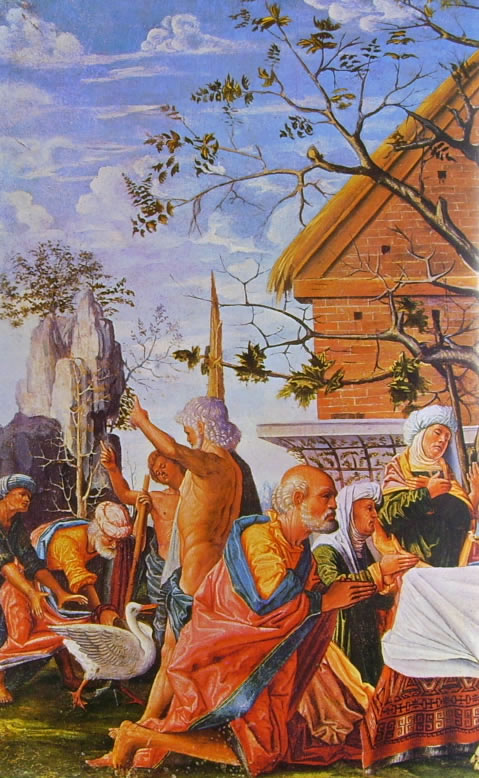 Bramantino: Filemone e Bauci (particolare sinistro)