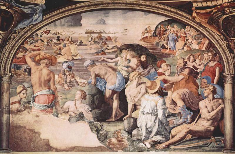 Il Bronzino:  Décoration de la Chapelle d'Eleonora de Toledo Passage de la Mer Rouge dans images sacrée 11%20bronzino%20-%20cappella%20eleonora%20-%20passaggio%20mar%20rosso