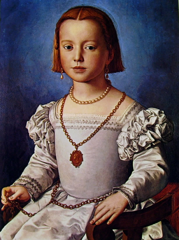 Il Bronzino: Ritratto di Bia di Cosimo de' Medici