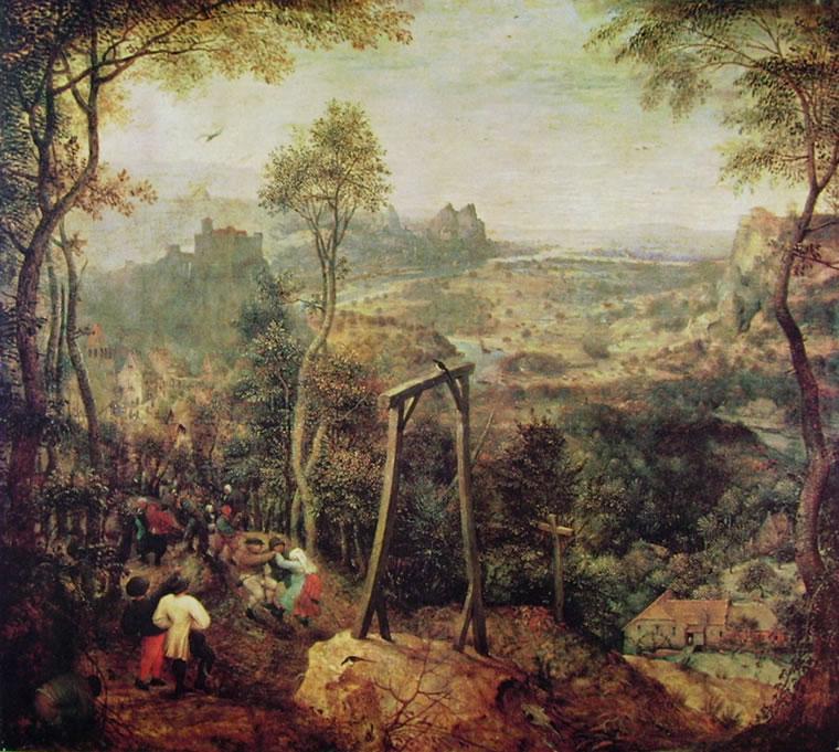 Pieter Bruegel: La gazza sulla forca