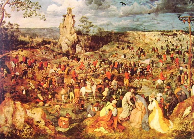 Pieter Bruegel: L'andata al Calvario