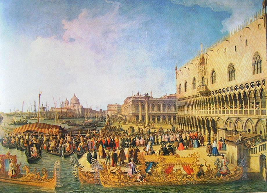 Il Canaletto: Ricevimento dell'ambasciatore imperiale a palazzo ducale