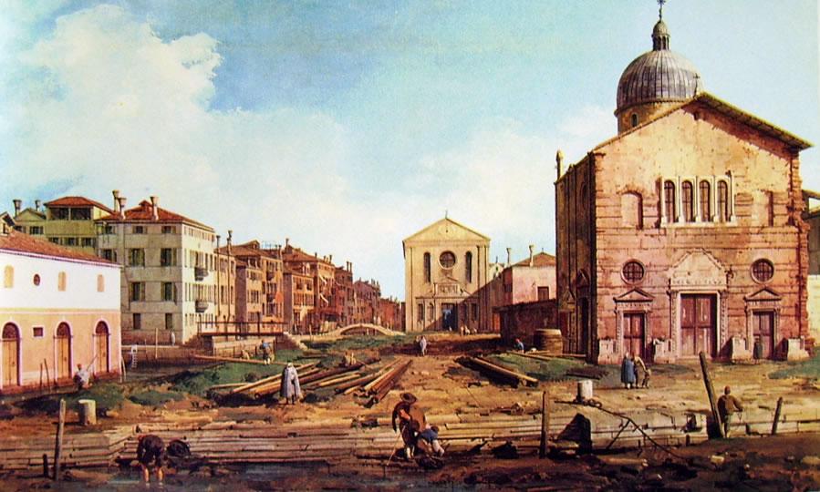 Il Canaletto: La chiesa di San Nicolò di Castello