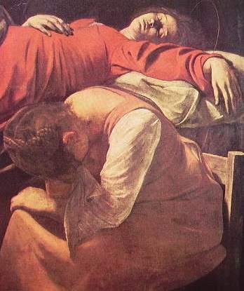 Particolare de La morte della Madonna