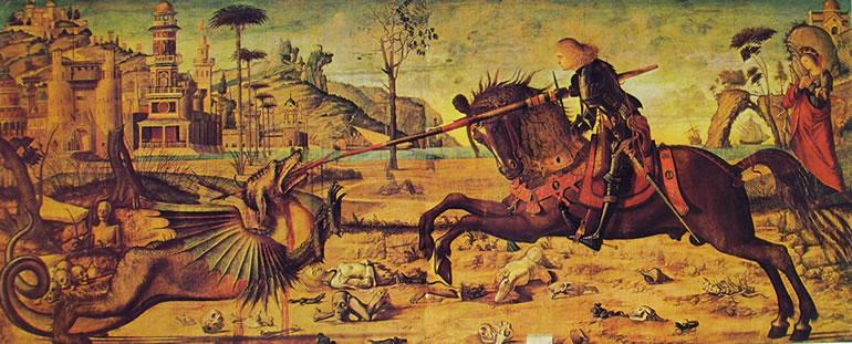 Carpaccio: San Giorgio in lotta col drago