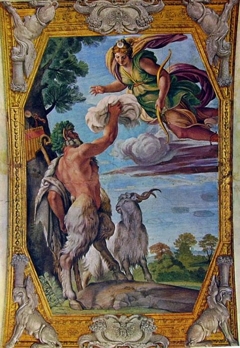 Annibale Carracci: La Galleria Farnese - Pan e Diana