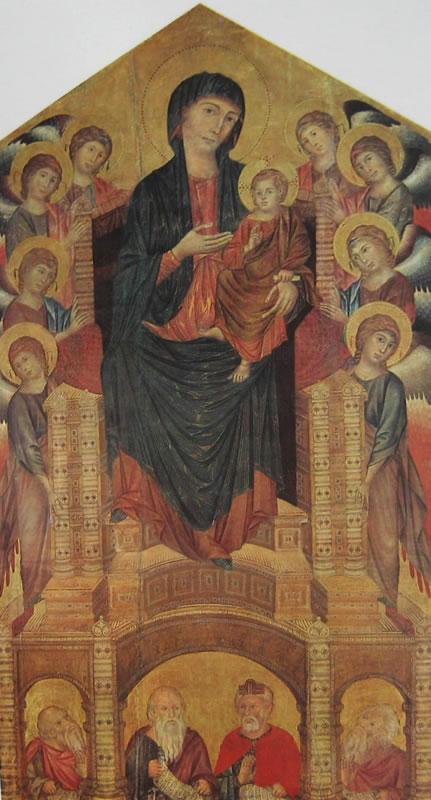 Cimabue: Madonna con il Bambino, in trono