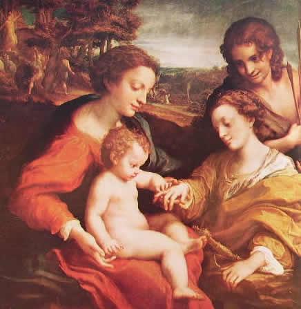 Correggio - Nozze mistiche di Santa Caterina con San Sebastiano