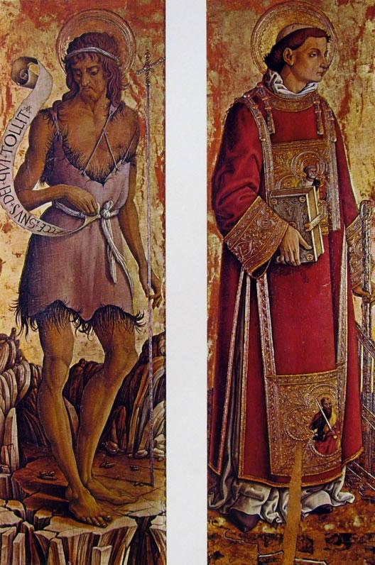 Carlo Crivelli: Polittico di Massa Fermana - San Giovanni Battista e San Lorenzo