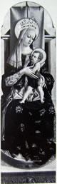 Madonnacol Bambino in trono, 180 x 65 cm