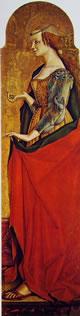 Maria Maddalena, 174 x 54 cm.