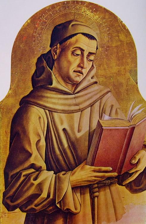 Carlo Crivelli: Polittico di Montefiore - Santo francescano