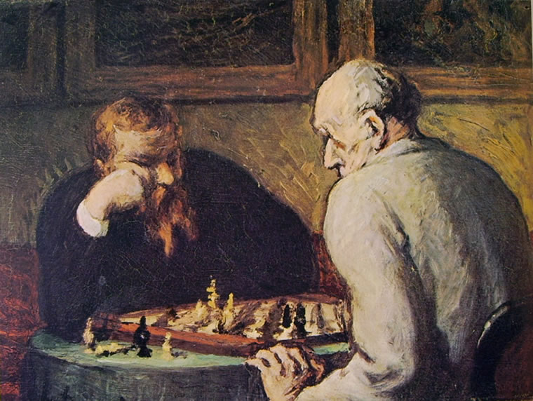 Honoré Daumier: Partita a scacchi