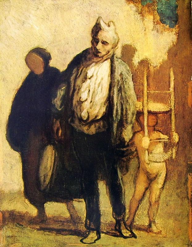 Honoré Daumier: Saltimbanchi in cammino