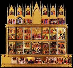 Duccio di Buoninsegna: La Maestà del Duomo di Siena (Verso)