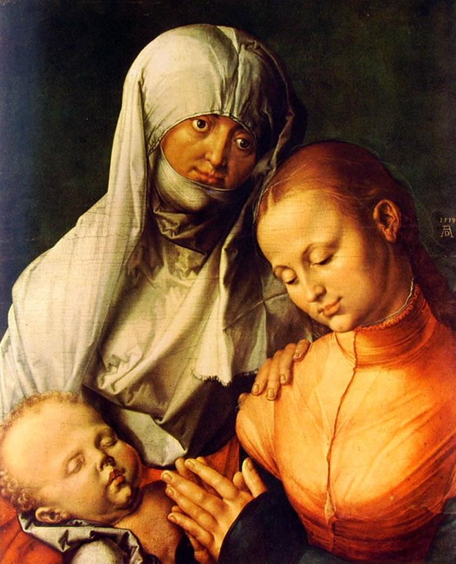 Albrecht Dürer: Sant'Anna la Vergine e il bambino