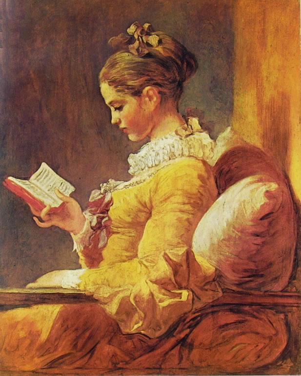 Jean-Honoré Fragonard: Donna che legge