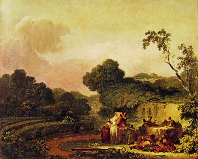 Jean-Honoré Fragonard: Il gioco della mosca cieca