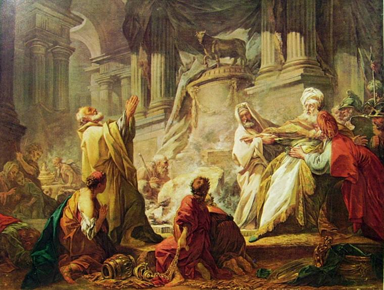 Jean-Honoré Fragonard: Geroboamo sacrifica al vitello d'oro
