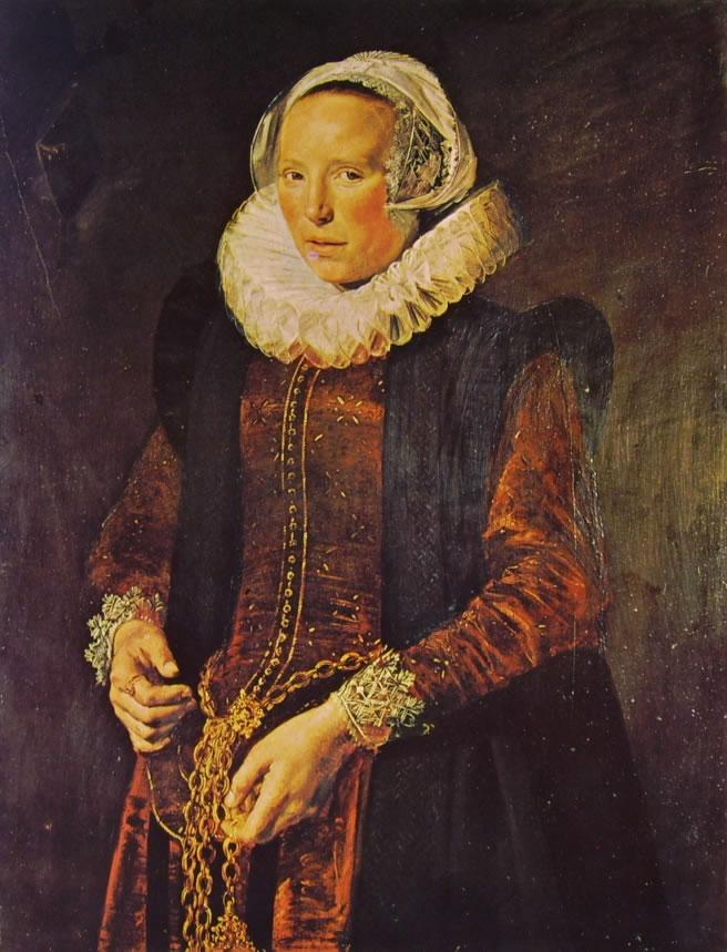 Frans Hals: Donna trentaduenne con catenella alla vita