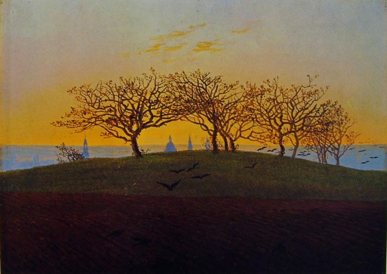 Caspar David Friedrich: Collina e campo arato presso Dresda